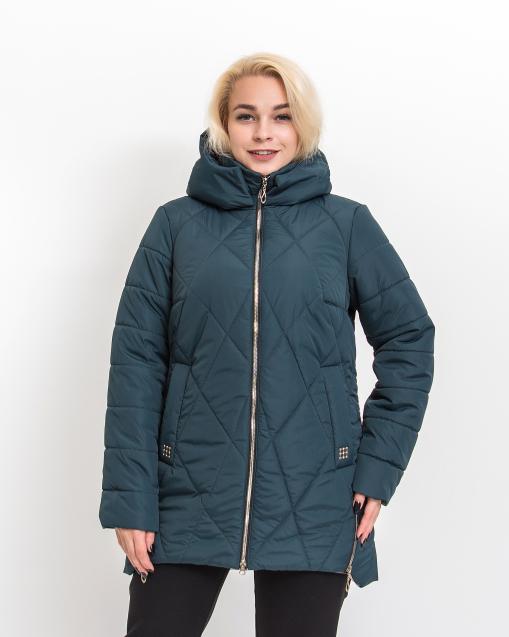 Демисезонная женская куртка Ронда бирюзового цвета
