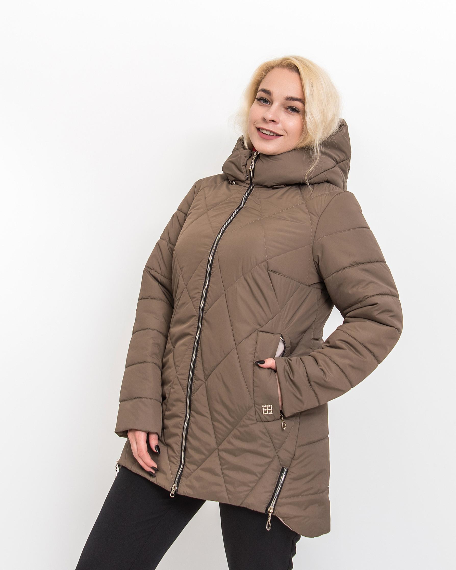 Демисезонная женская куртка Ронда бежевого цвета