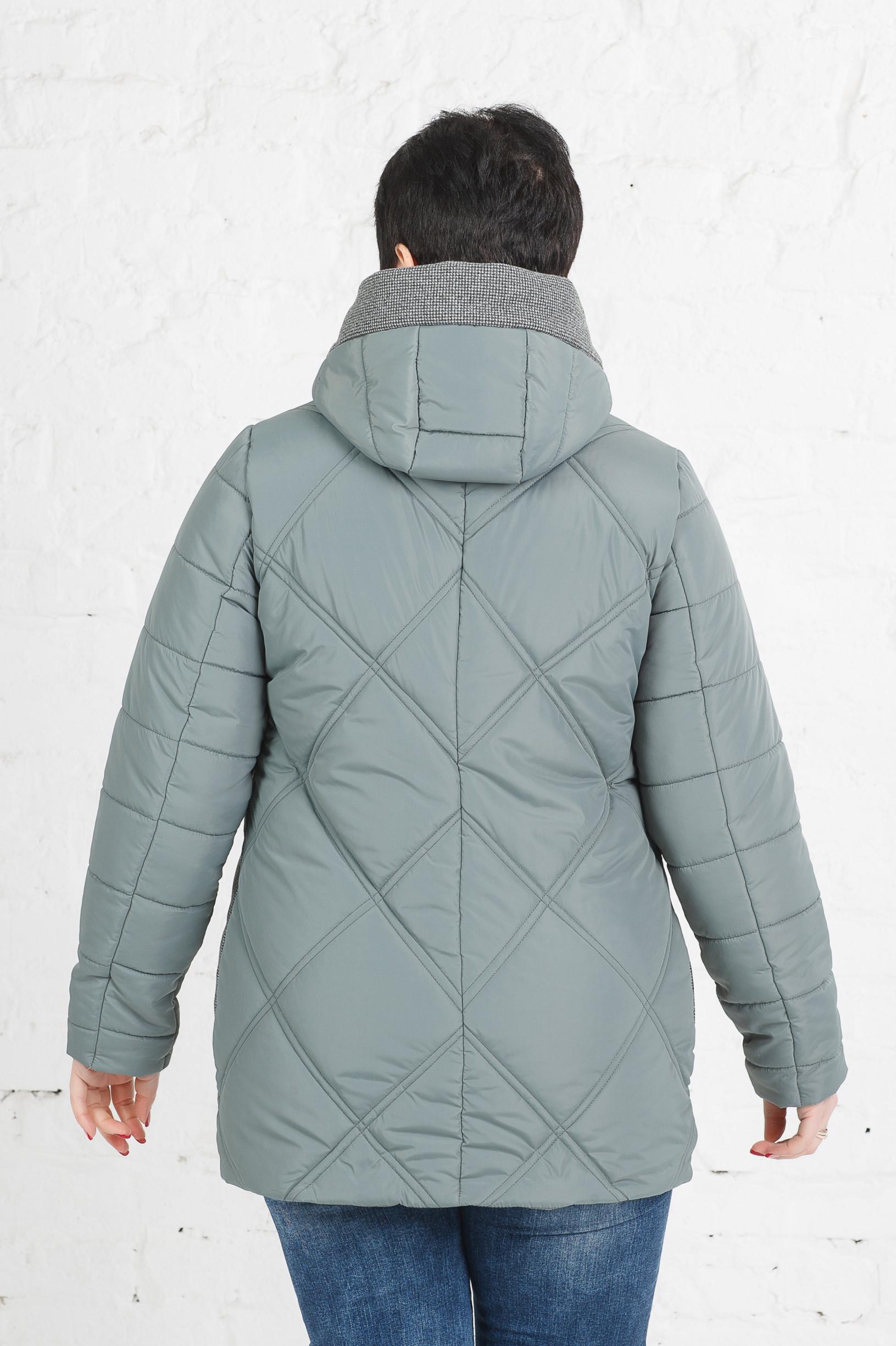 Женская комбинированная куртка Петра оливка