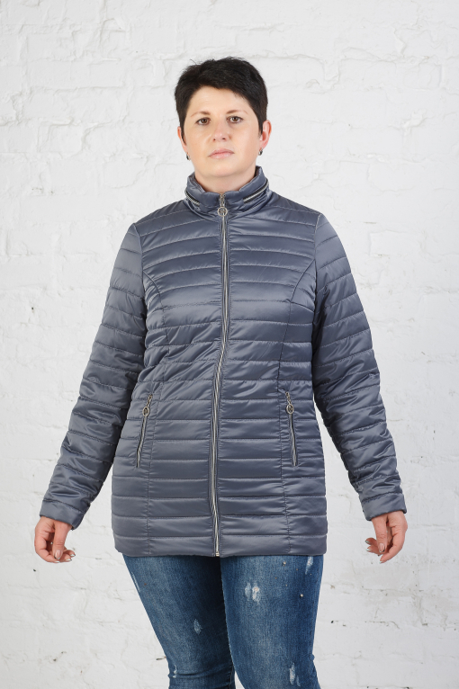 Легкая куртка-пиджак Хельга серая