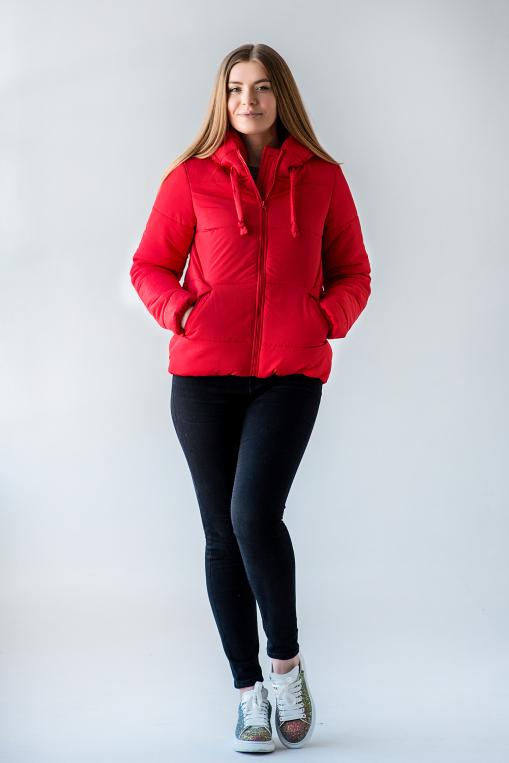 Полуспортивная красная куртка для девушки Тутси