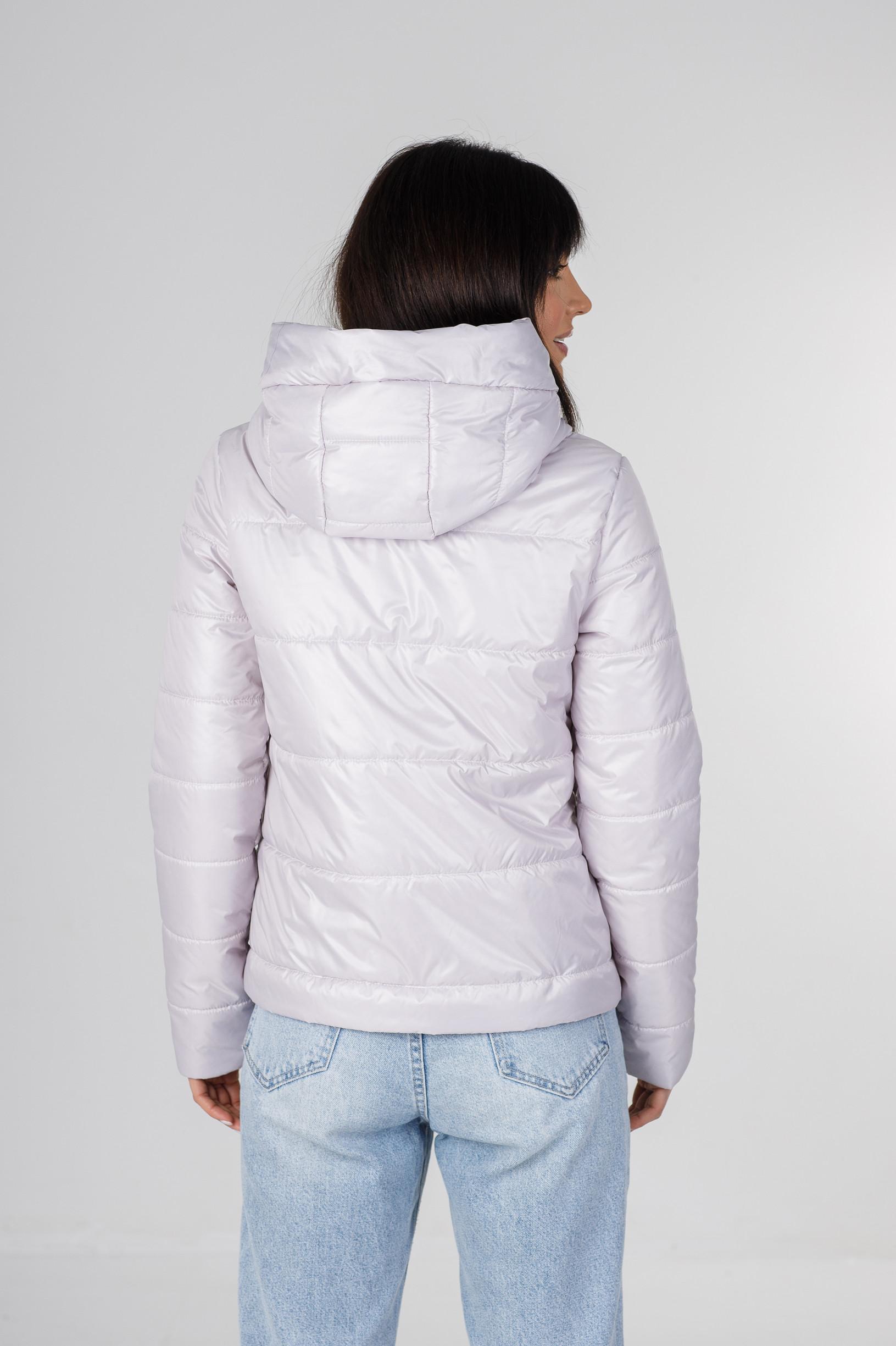 Демисезонная укороченная серая куртка Лия