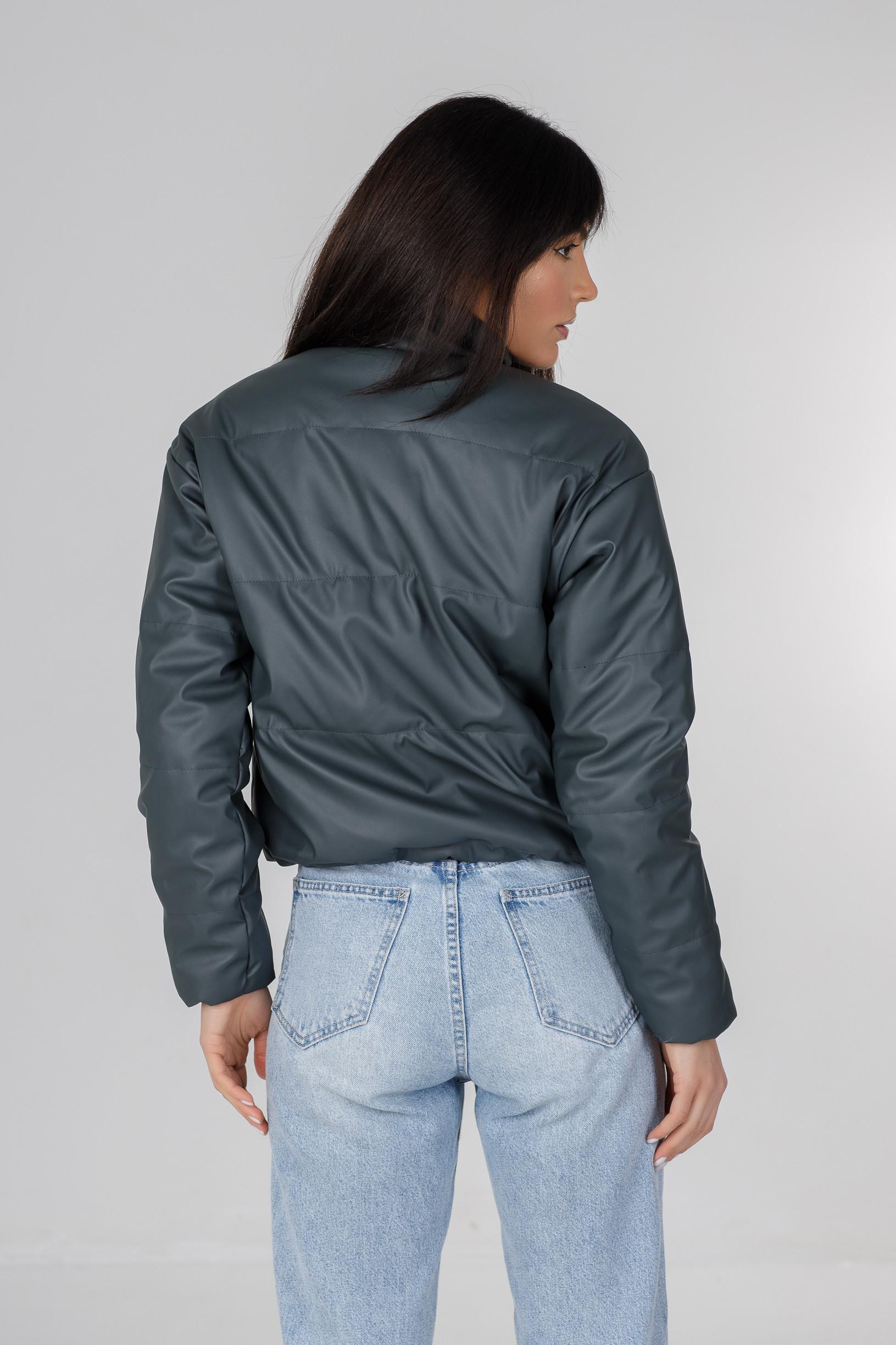 Стильная синяя куртка из эко-кожи Харви