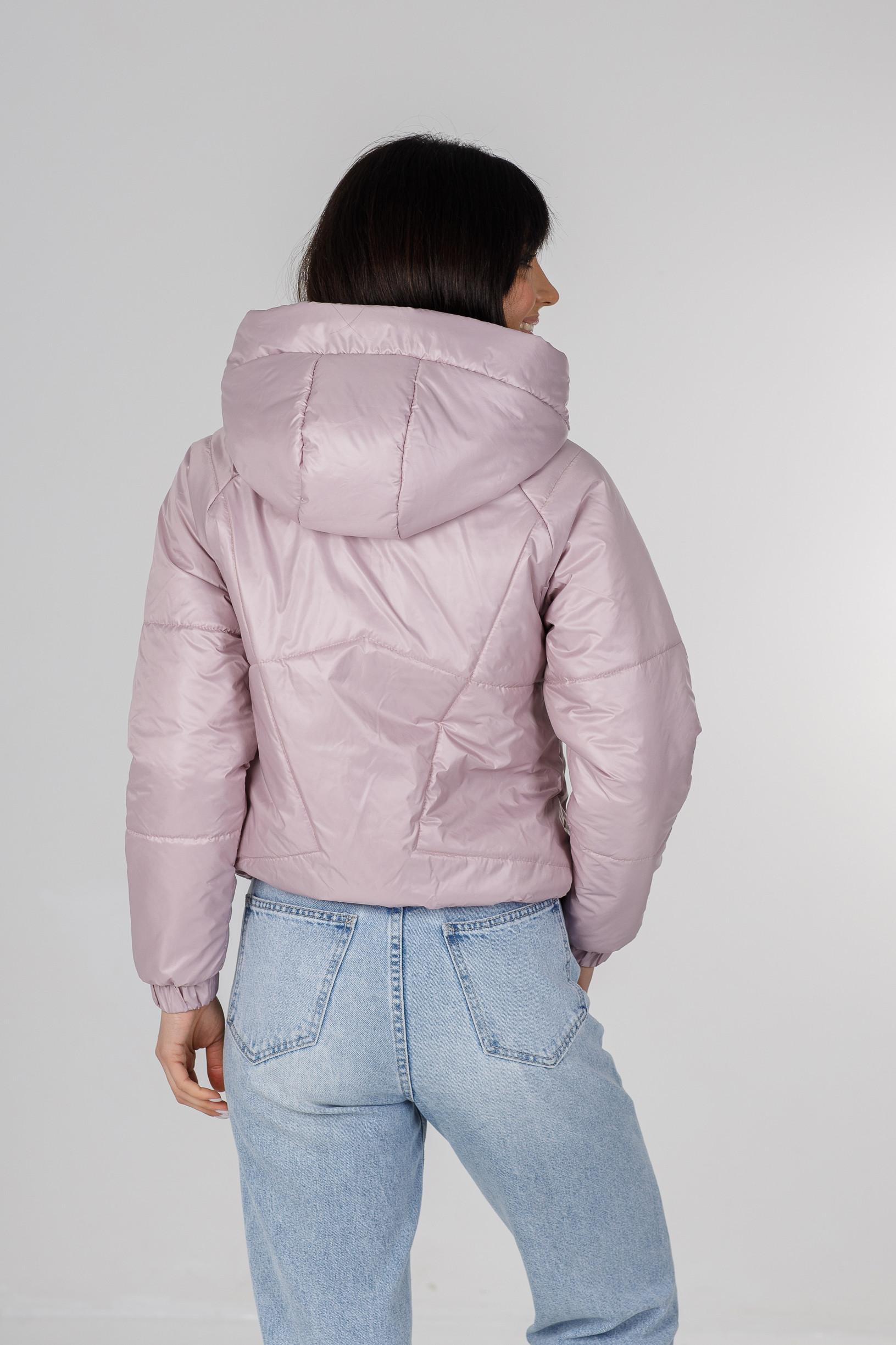 Демисезонная укороченная розовая куртка Берри