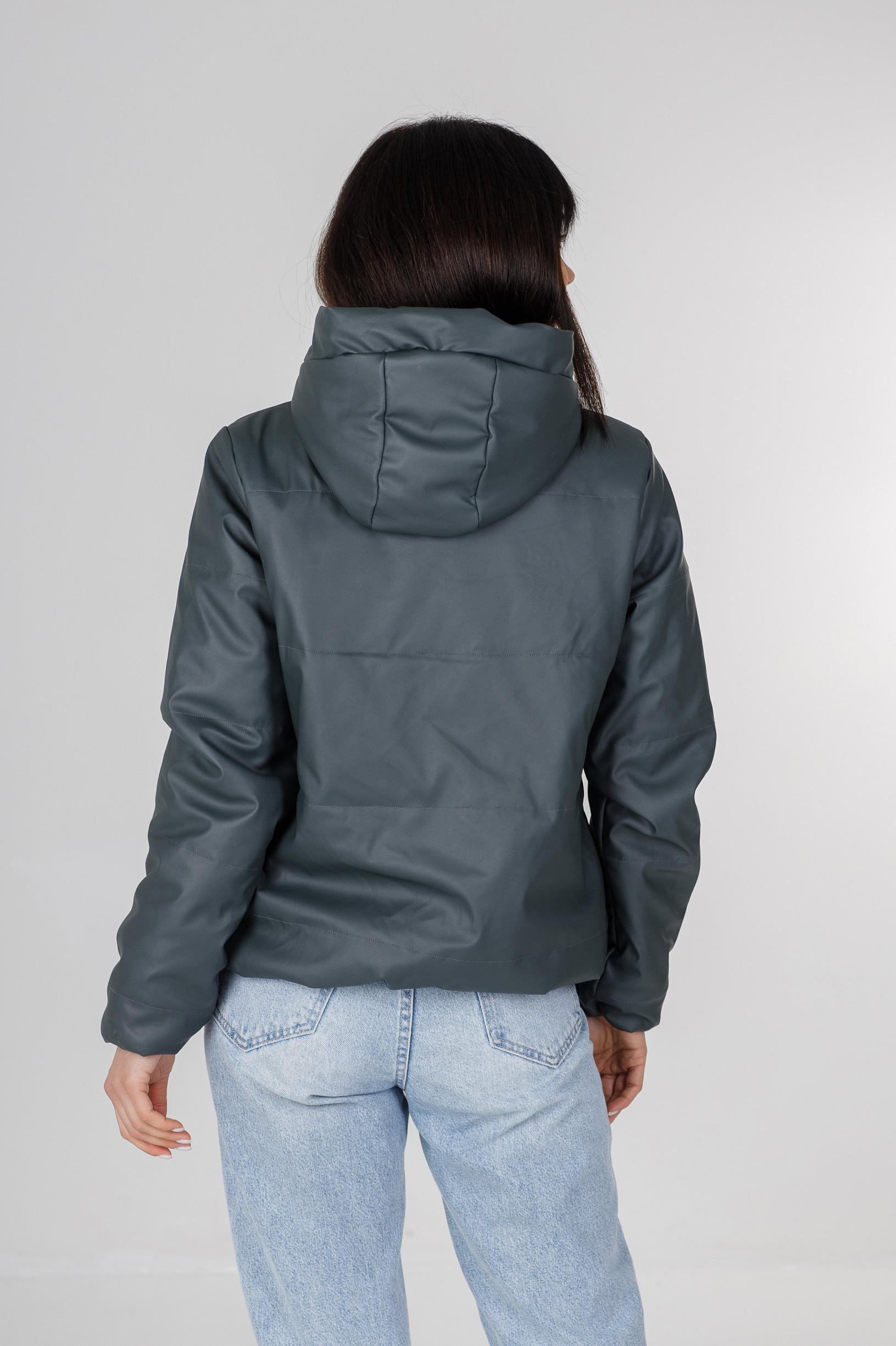 Синняя куртка из эко-кожи для девушки Франки