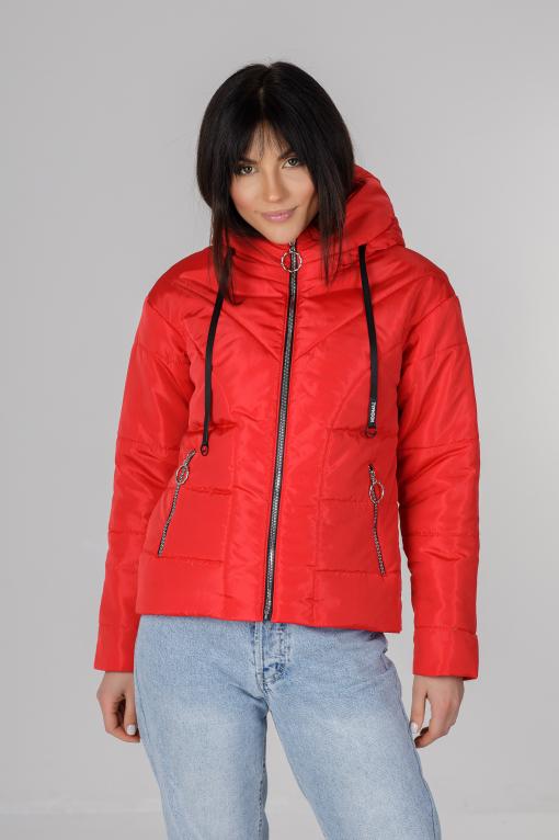 Стильна червона весняна куртка Ася