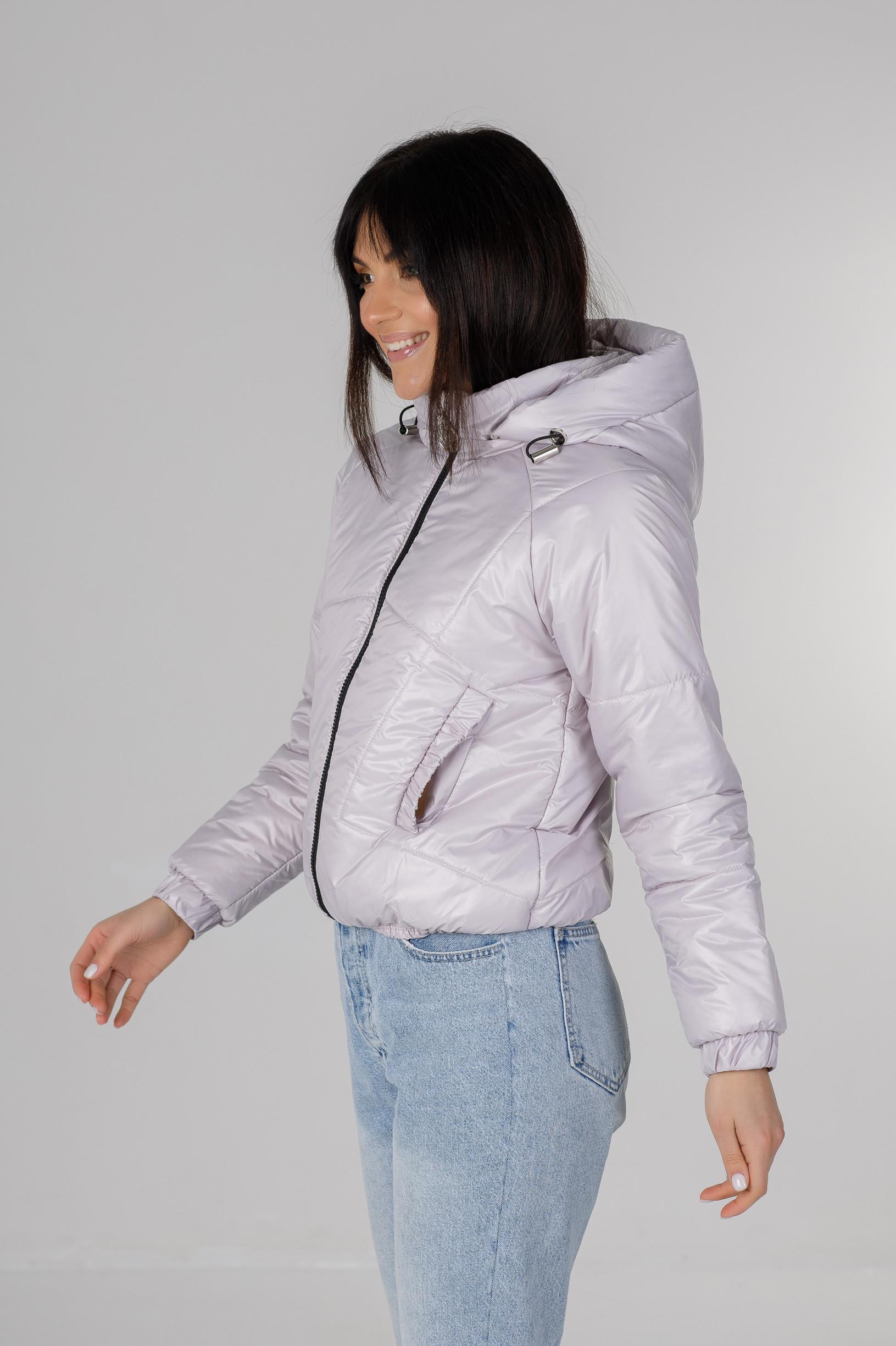 Демисезонная укороченная серая куртка Берри