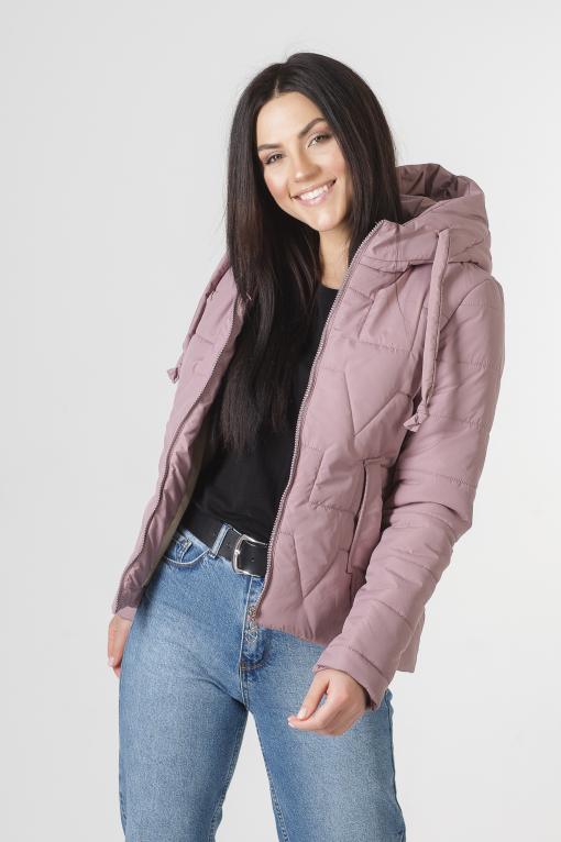 Молодёжная розовая весенняя куртка Дебби