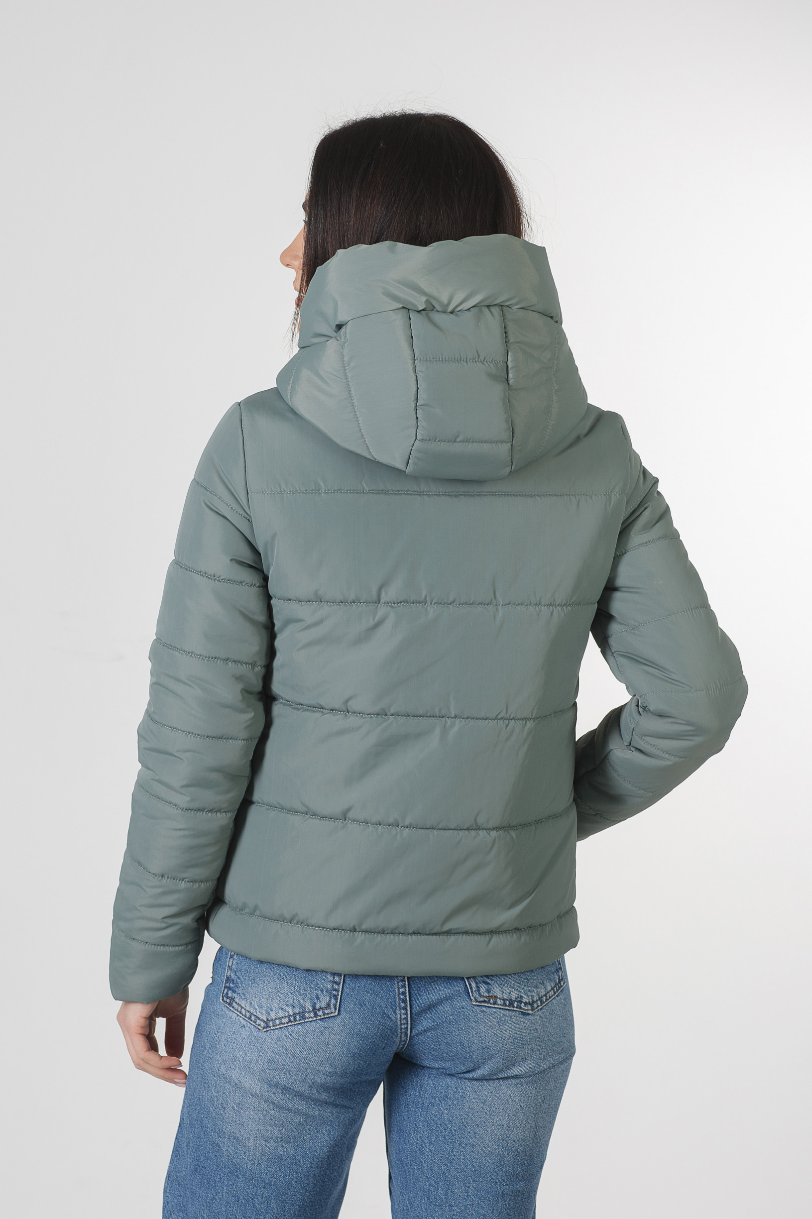 Весення укороченная мятная куртка Лия