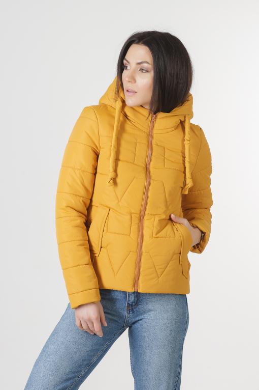 Молодёжная жёлтая весенняя куртка Дебби