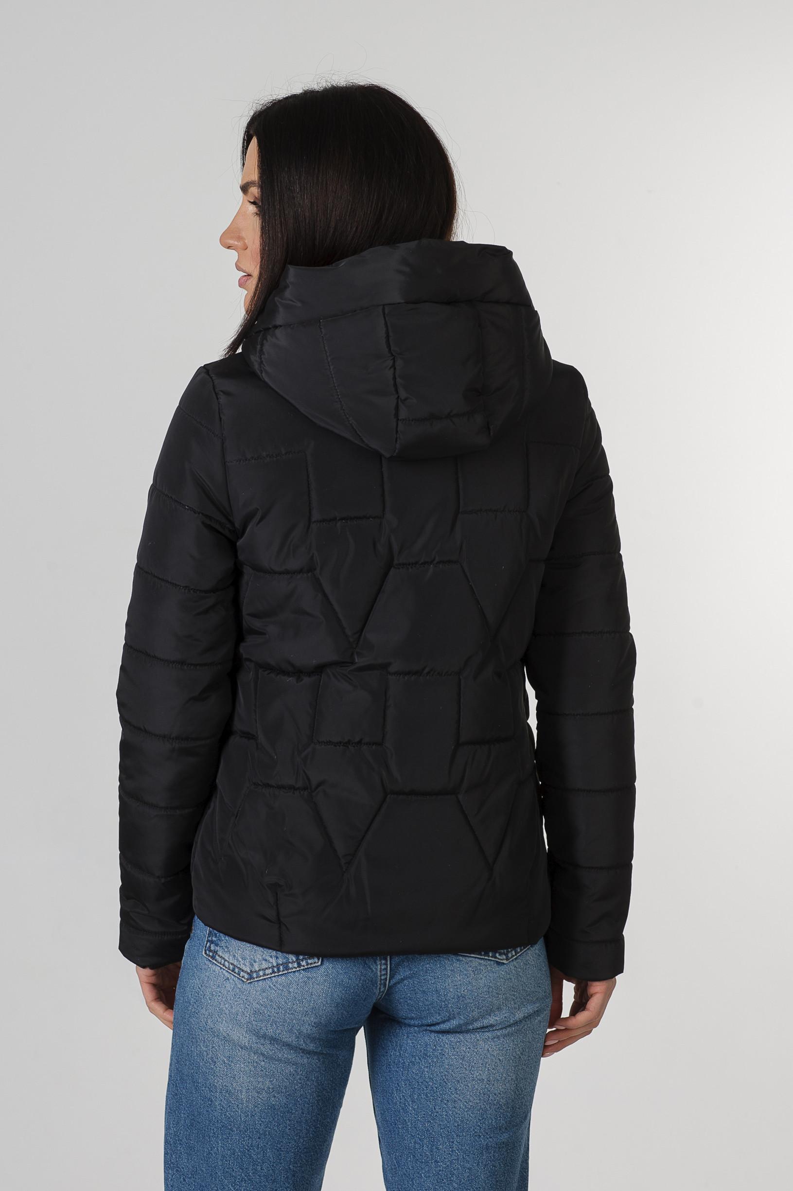 Молодёжная чёрная весенняя куртка Дебби