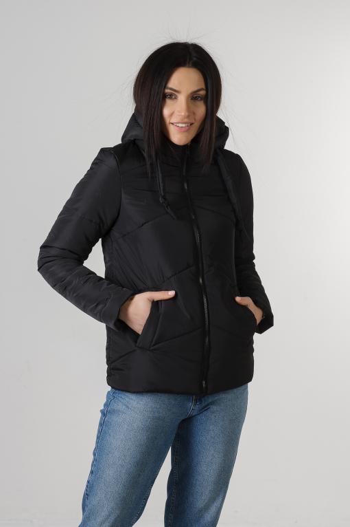 Чёрная демисезонная куртка Пинки