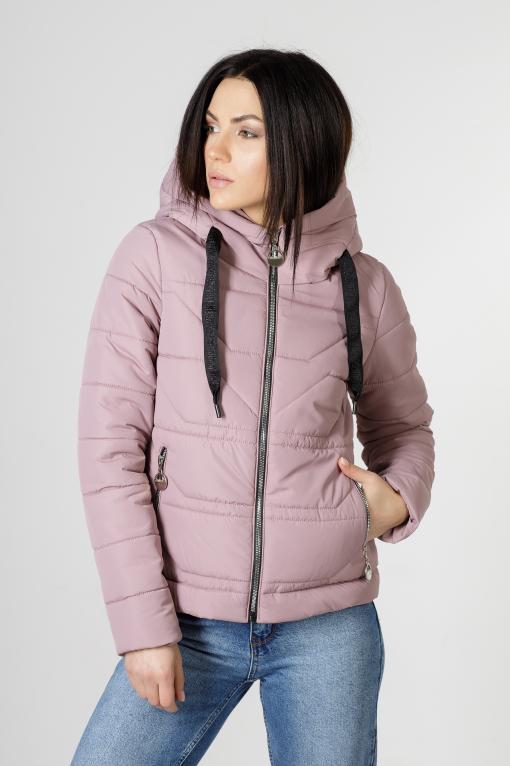 Весення укороченная розовая куртка Лия