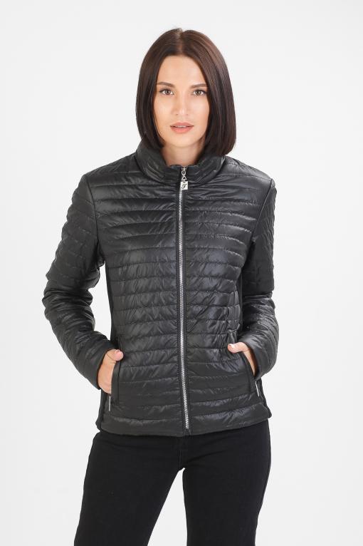 Тоненька куртка Бетти чёрного цвета