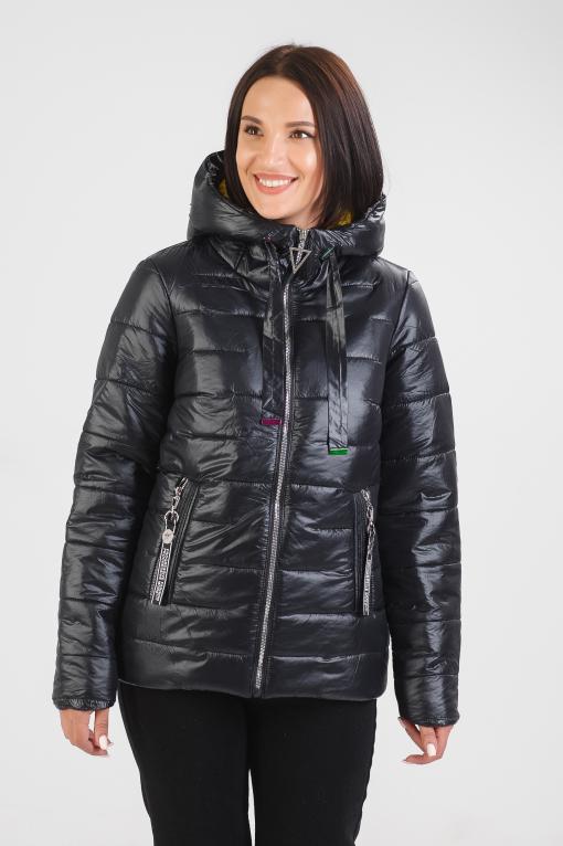 Чёрная демисезонная куртка Барби