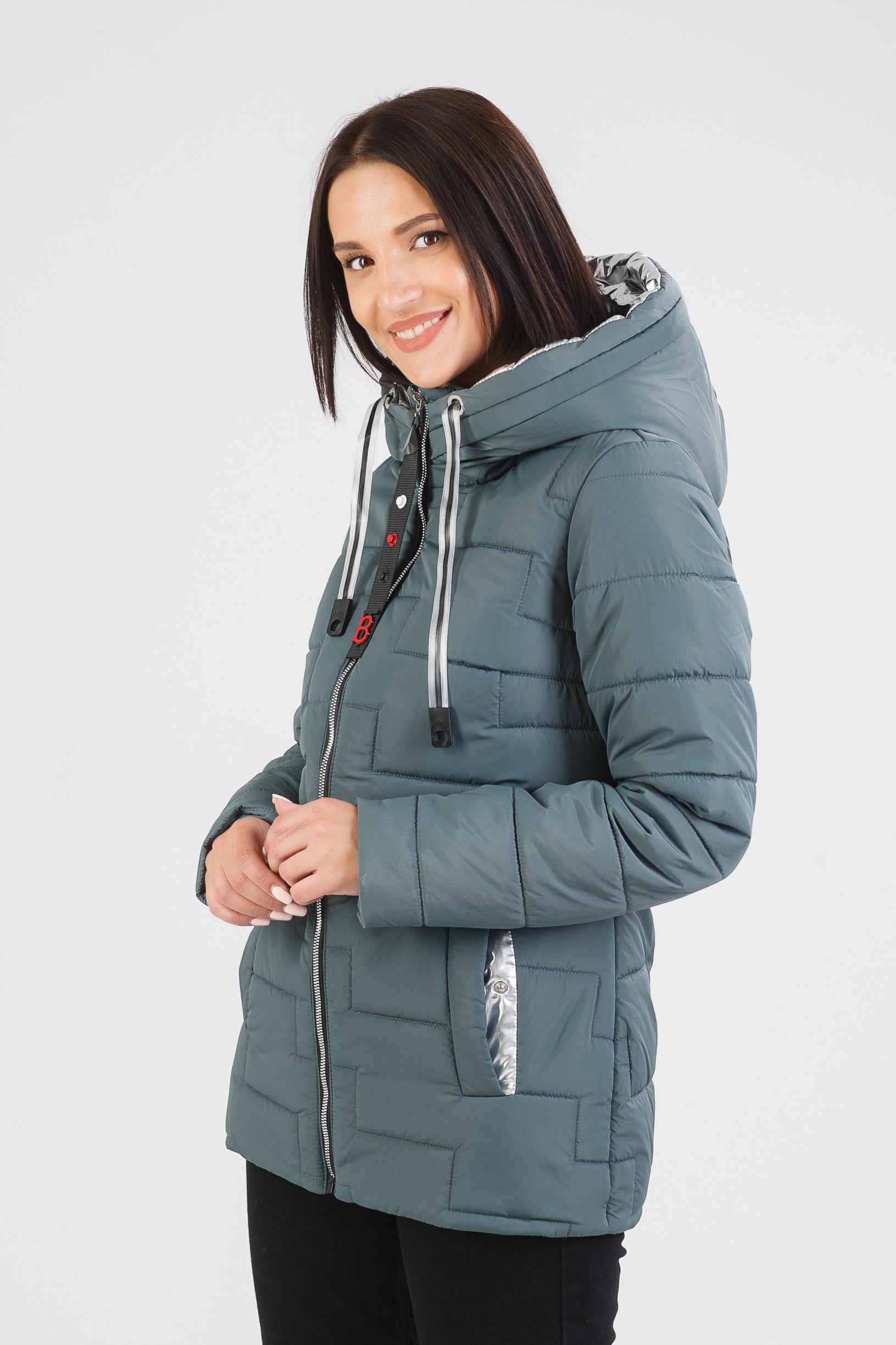 Мятная демисезонная куртка Изи