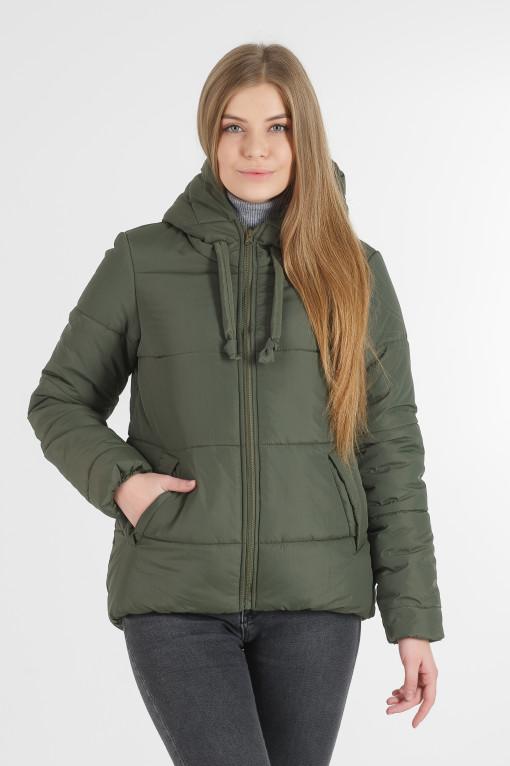 Напівспортивна хакі куртка для дівчини Тутсі