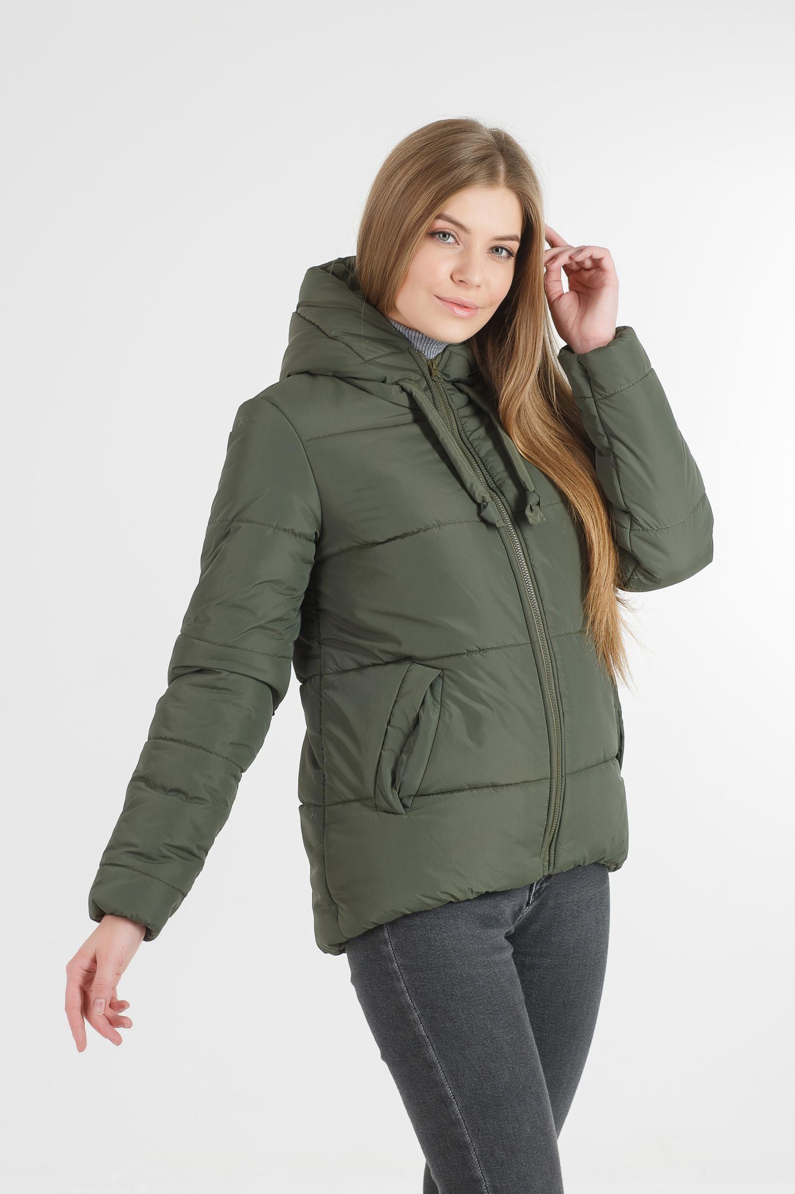 Полуспортивная хаки куртка для девушки Тутси