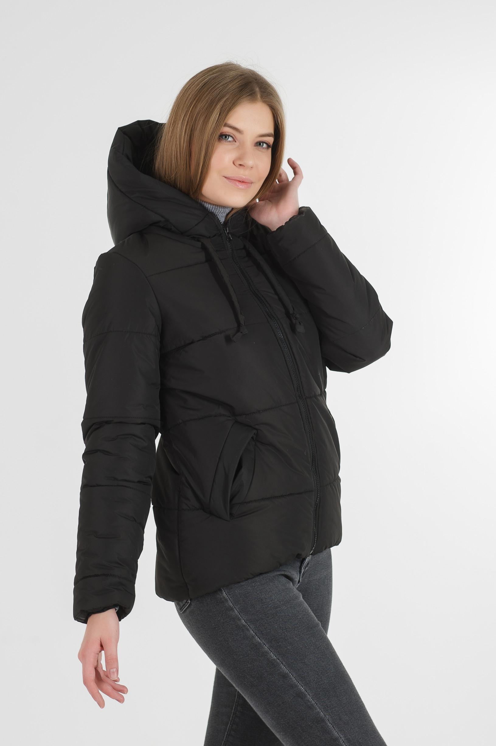 Полуспортивная чёрная куртка для девушки Тутси