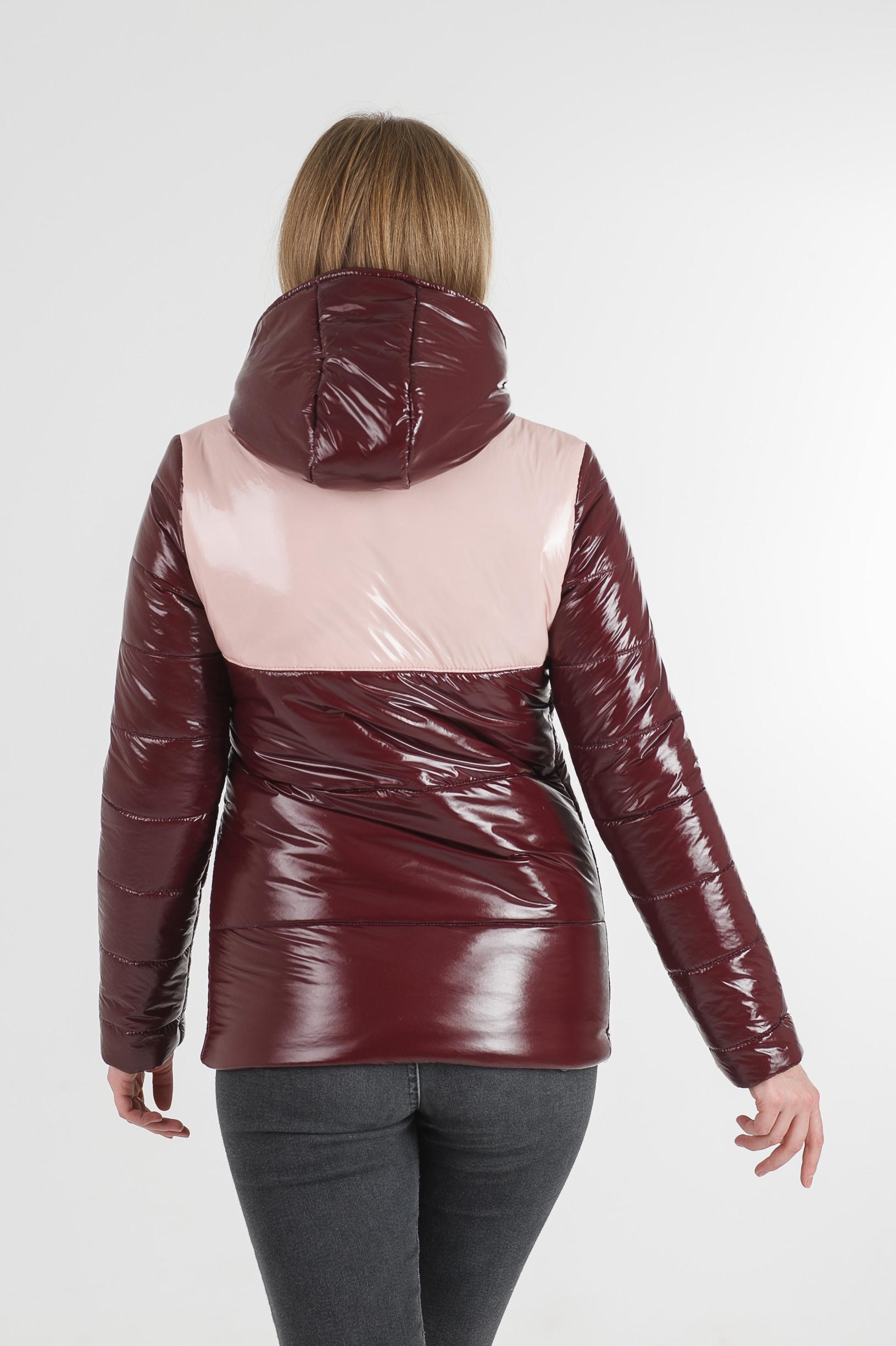 Молодёжная бордовая куртка Лол