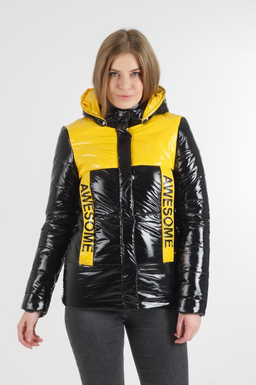 Молодіжна чорна куртка Лол