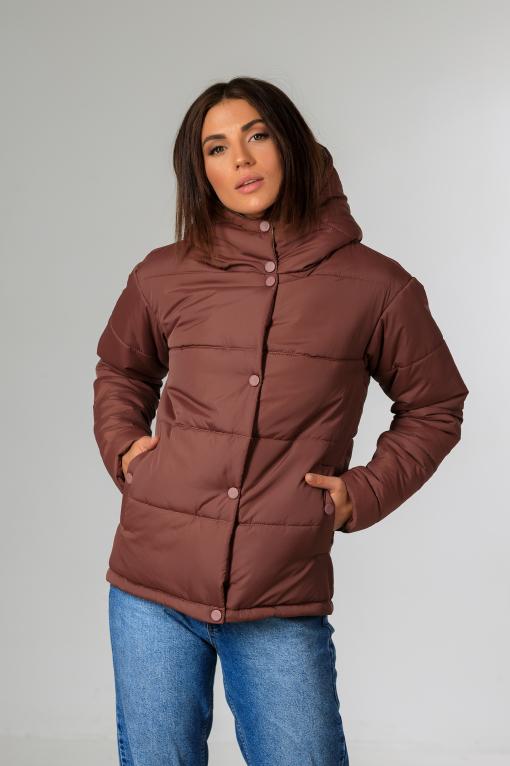 Демисезонная женская куртка Фреди вишнёвого цвета