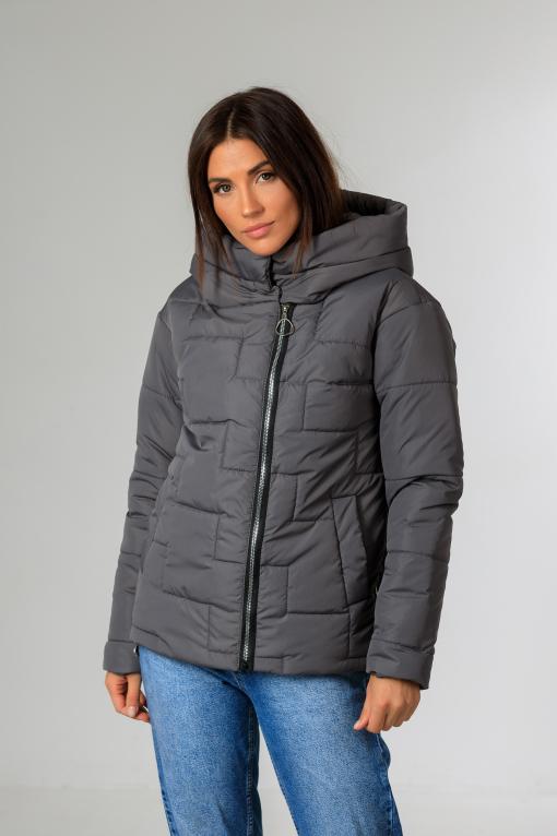 Демісезонна жіноча куртка Теффі сірого кольору