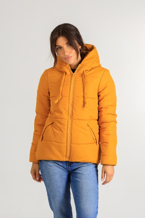 Полуспортивная куртка для девушки Тутси жёлтая