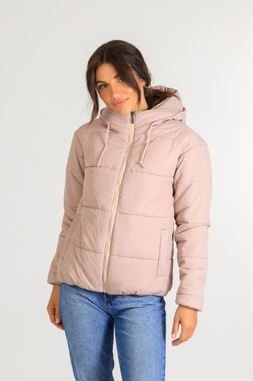 Демисезонная женская стильная куртка Тахо розового цвета