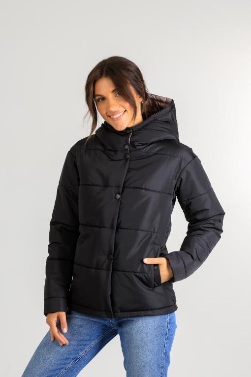 Демисезонная женская куртка Фреди чёрного цвета