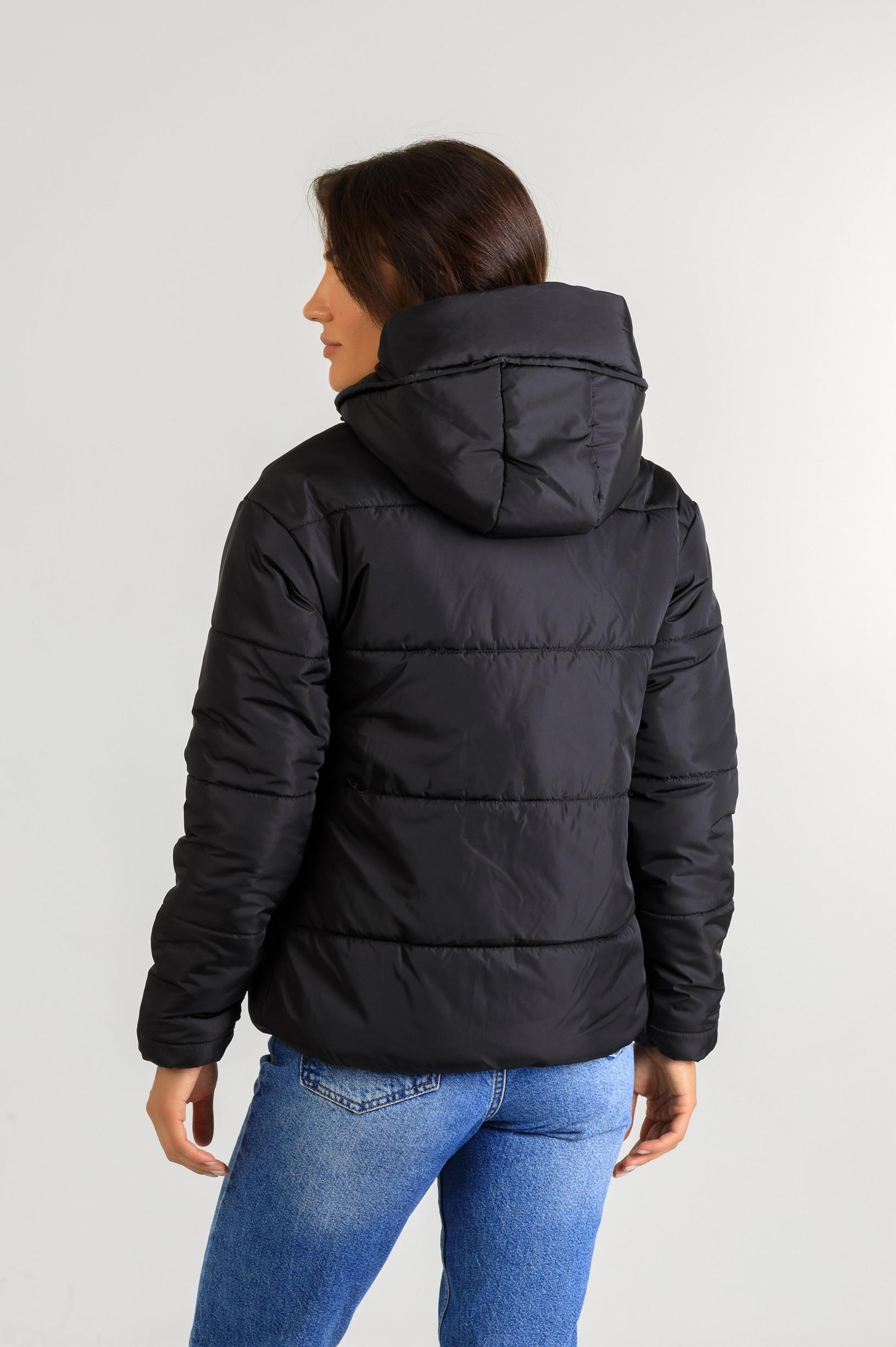 Демисезонная женская стильная куртка Тахо чёрного цвета