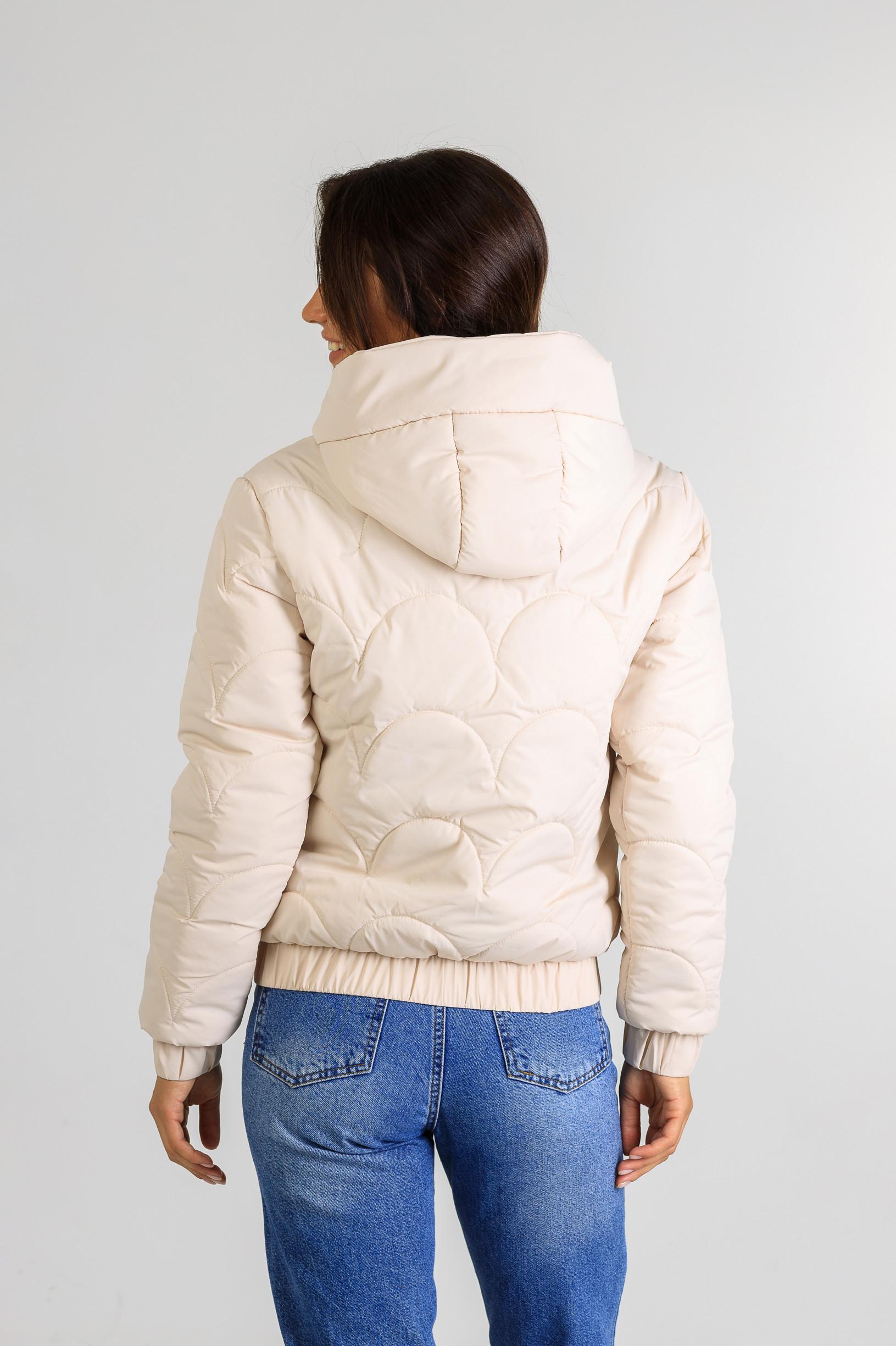 Демисезонная женская куртка Уля молочногоцвета