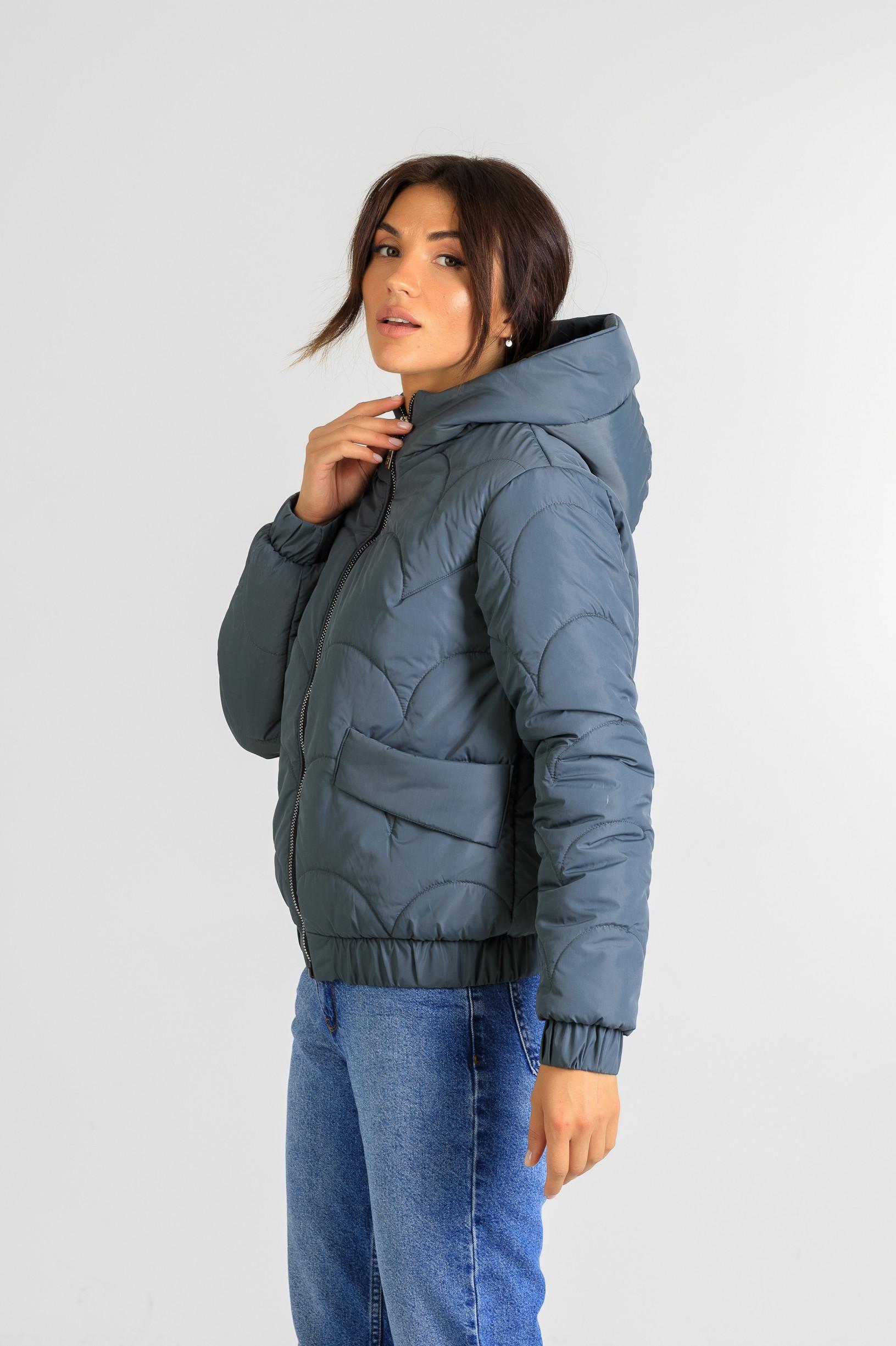 Демисезонная женская куртка Уля синего цвета