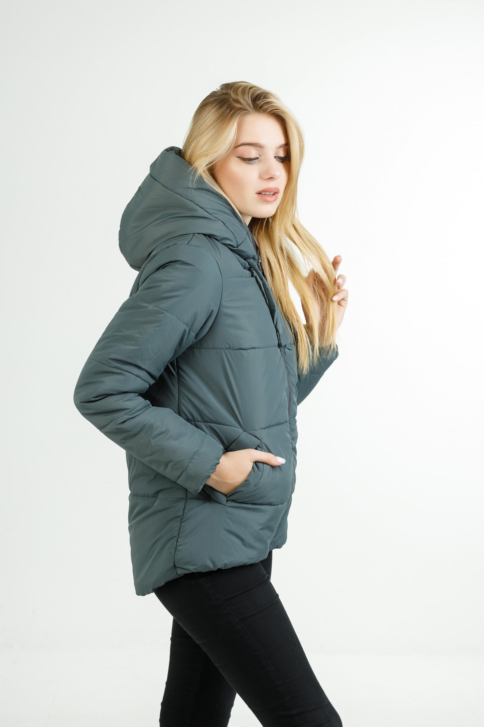 Полуспортивная демисезонная куртка для девушки Тутси фисташка