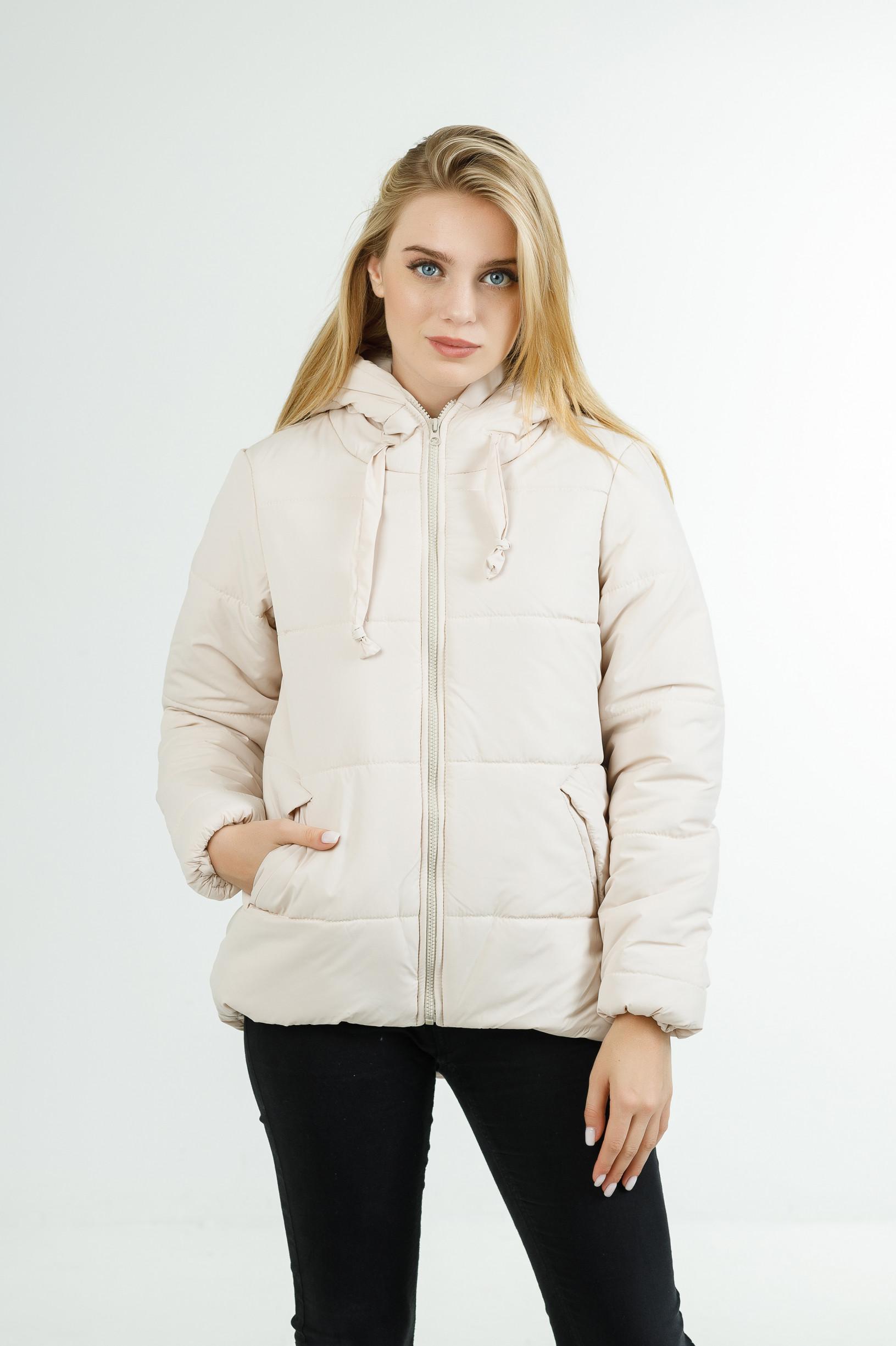 Полуспортивная демисезонная куртка для девушки Тутси молочная