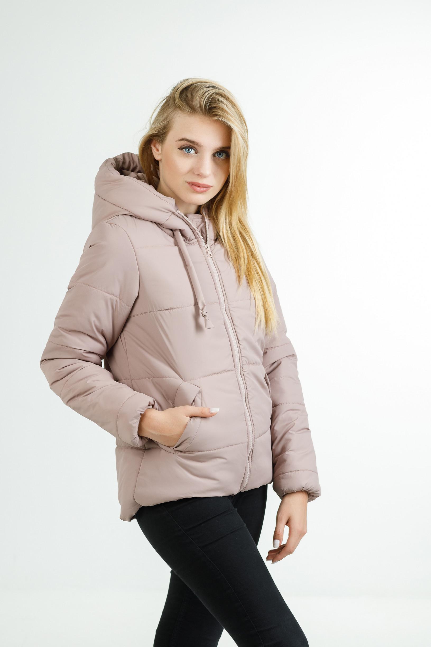 Полуспортивная демисезонная куртка для девушки Тутси розовая