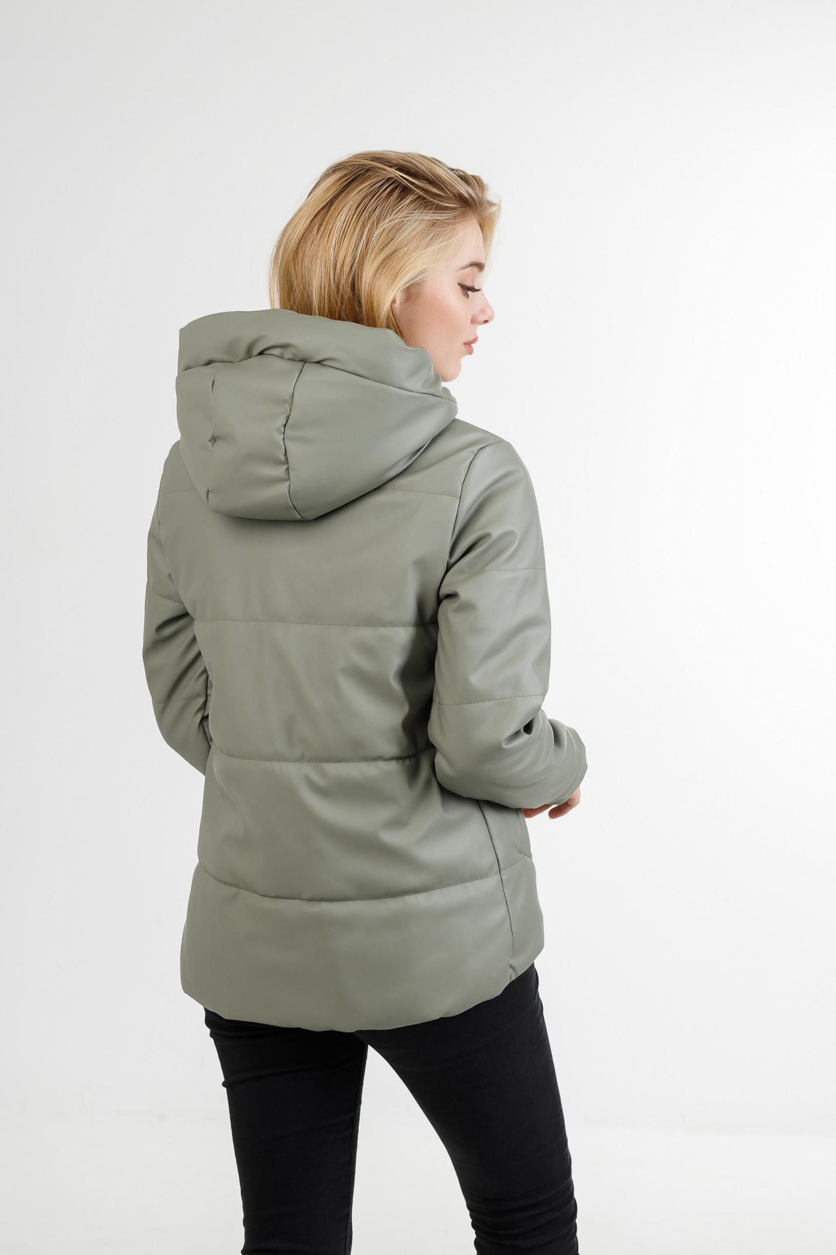 Полуспортивная демисезонная куртка Тутси из эко-кожи мятная