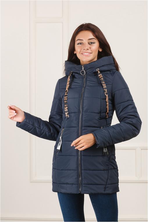 Стильная демисезонная женская куртка Енни синяя
