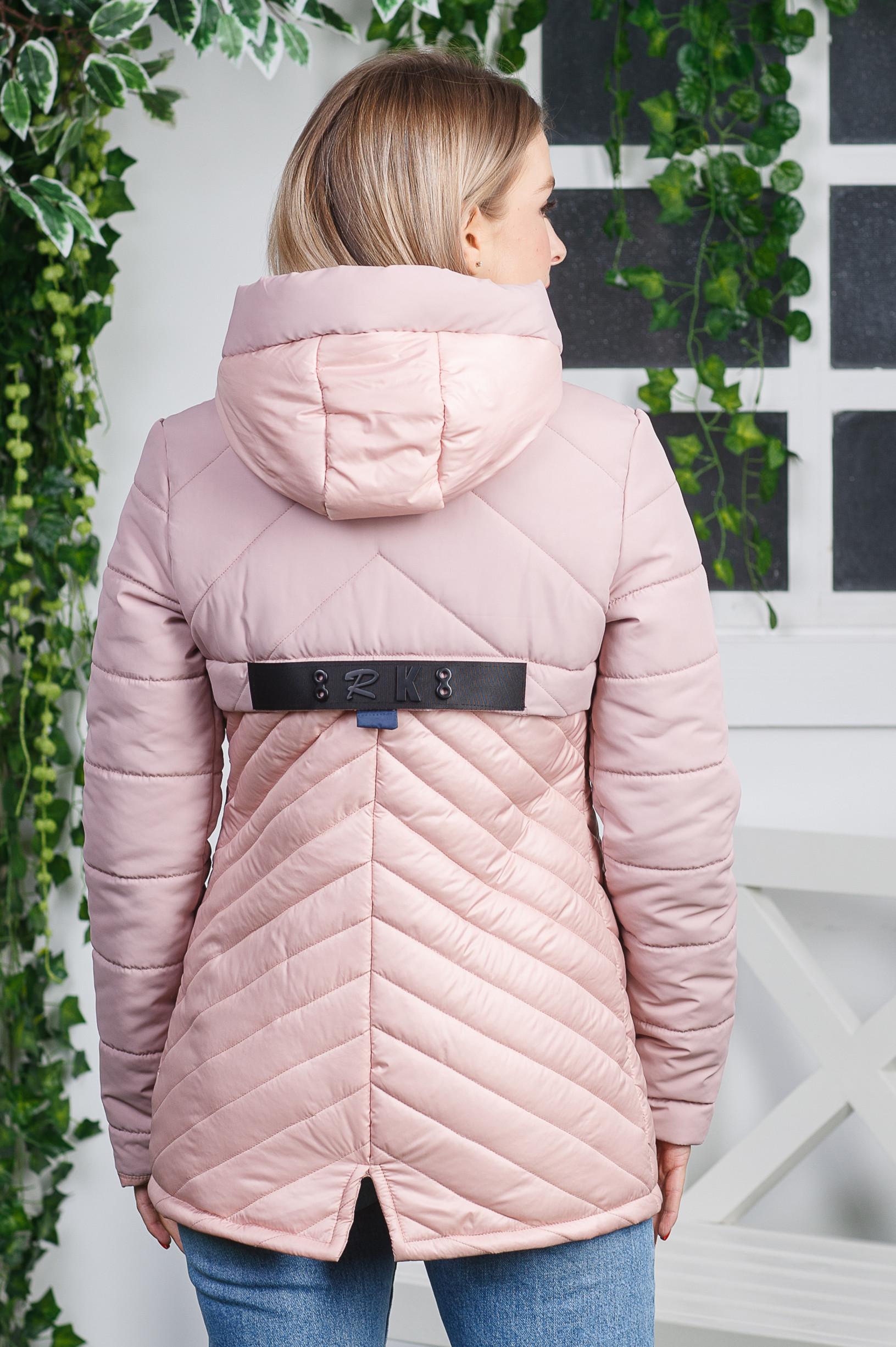 Комбинированная демисезонная куртка Диззи пудра