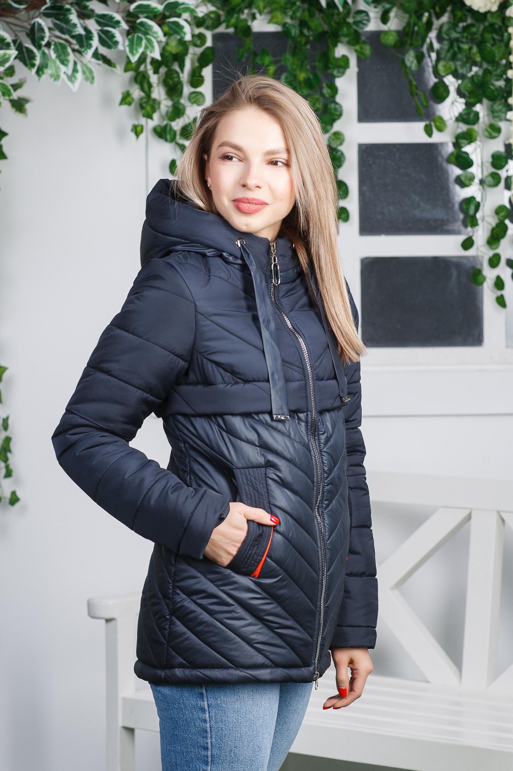 Комбинированная демисезонная куртка Диззи синяя