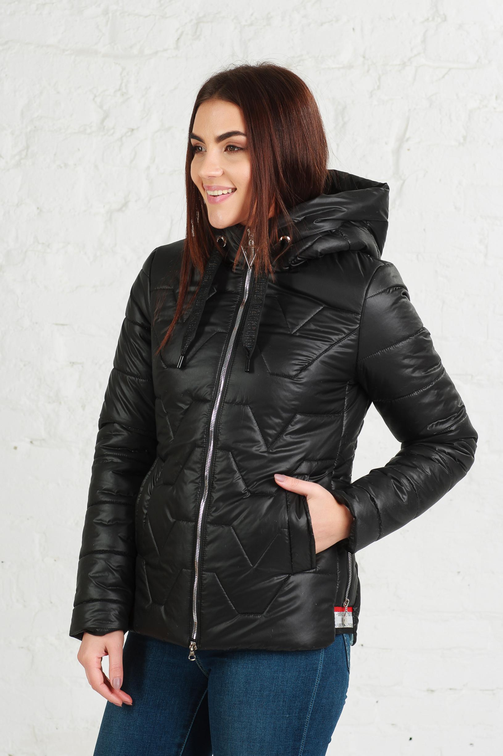 Стильная курточка для девушки Мики чёрного цвета