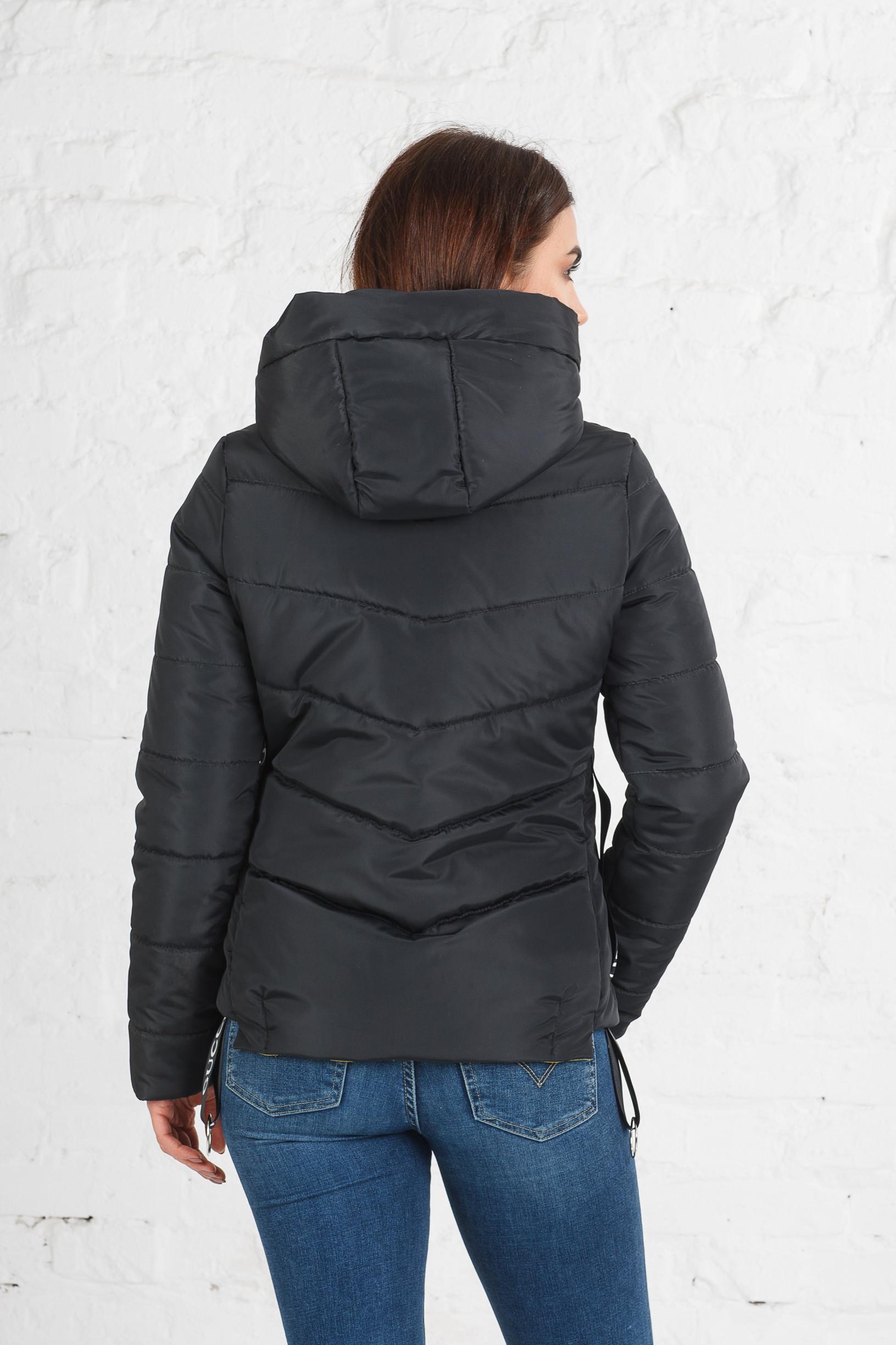 Весенняя куртка Чери темный графит