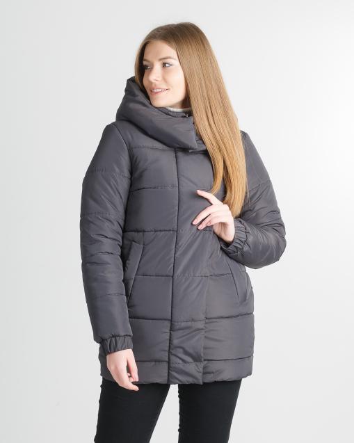 Зимняя удлинённая фиолетовая куртка для девушки Прада