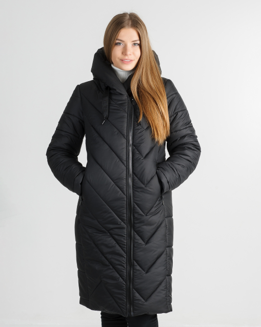 Зимнее пальто чёрного цвета Грейс