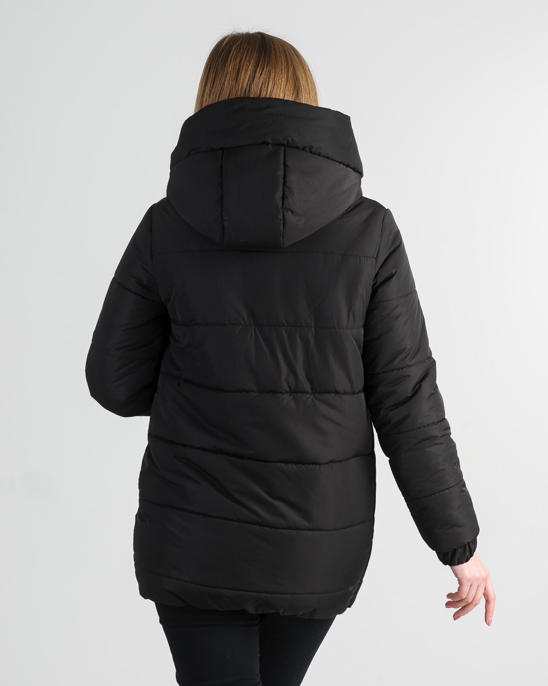 Зимняя удлинённая чёрная куртка для девушки Прада