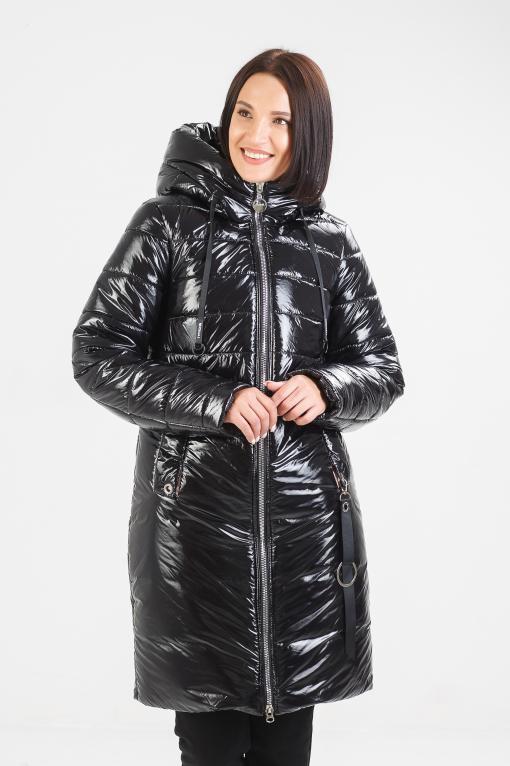 Зимнее пальто чёрного цвета Ассоль