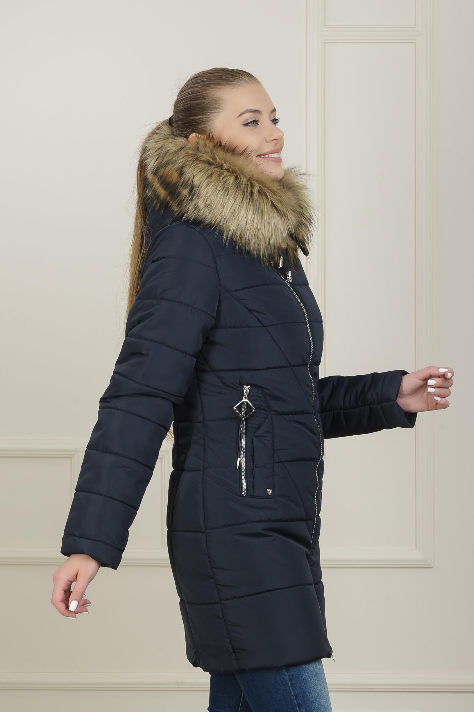 Зимняя куртка для девушки Аманда синяя
