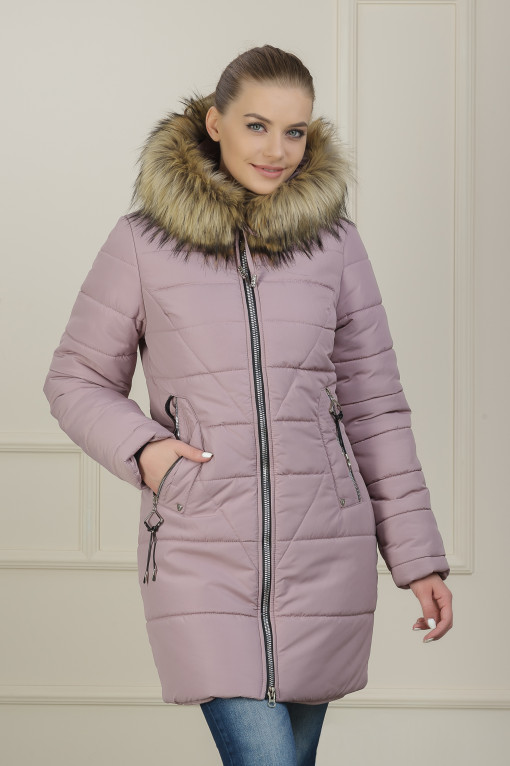 Зимняя куртка для девушки Аманда пудра