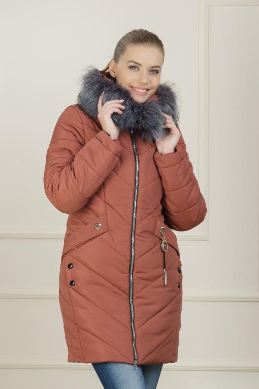 Зимняя куртка Рокси-2 терракот