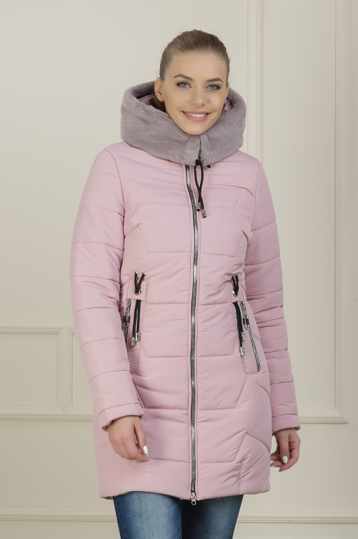 Зимняя куртка Лика пудра